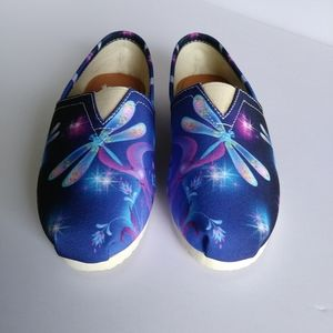 Yes We Vibe Dragonfly Slip On Flats Shoe Size 6